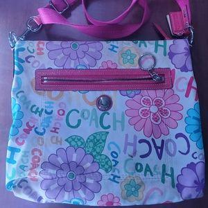 Graffiti coach purse